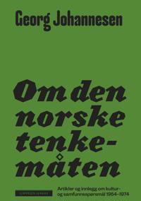 Om den norske tenkemåten - Georg Johannesen pdf epub