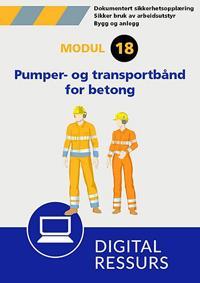 Sikker bruk av pumper og transportbånd for betongleveranse -  pdf epub