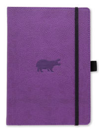 Dingbats* Wildlife A5+ Purple Hippo Notebook - Dotted