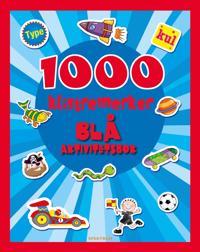1000 klistremerker. Blå aktivitetsbok