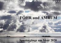 Föhr und Amrum - Spaziergänge am Meer (Wandkalender 2020 DIN A4 quer)