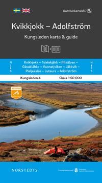 Kvikkjokk Adolfström Kungsleden 4 Karta och guide : Outdoorkartan skala 1:50 000 -  pdf epub