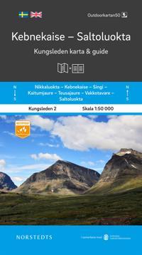 Kebnekaise Saltoluokta Kungsleden 2 Karta och guid : Outdoorkartan skala 1:50 000