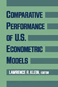 Comparative Performance of U.S. Econometric Models