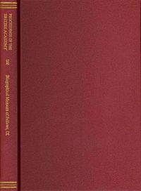 Biographical Memoirs of Fellows IX