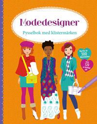 Modedesigner: pysselbok med klistermärken