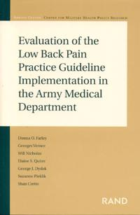 Evaluation of the Low Back Pain Practice Guideline Implementation in the Army Medical Department