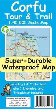 Corfu TourTrail Super-Durable Map