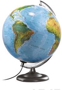Karttapallo ATMO, 30 cm, B2/SE, ruotsinkielinen, B2/muovi/muovi/sininen/valo