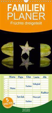 Früchte dreigeteilt - Familienplaner hoch (Wandkalender 2020 , 21 cm x 45 cm, hoch)