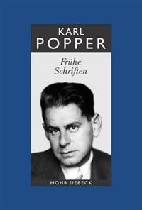 Karl R. Popper-Gesammelte Werke: Band 1: Fruhe Schriften