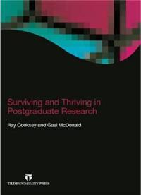 Surviving and Thriving in Postgraduate Research