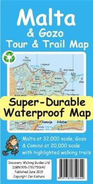 Malta and Gozo Tour and Trail Super-Durable Map