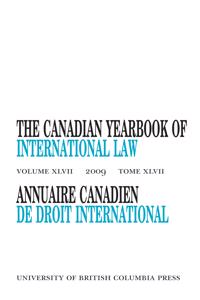 The Canadian Yearbook of International Law / Annuaire Canadien de Droit International
