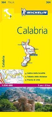 Calabria Michelin 364 delkarta Italien : 1:200000