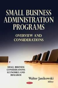 Small Business Administration Programs