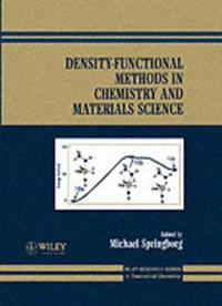 Density-Functional Methods in Chemistry and Materials Science