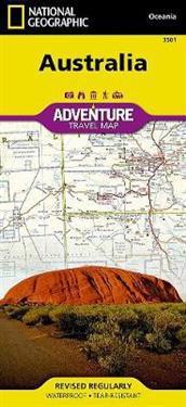 National Geographic Australia Adventure Travel Map