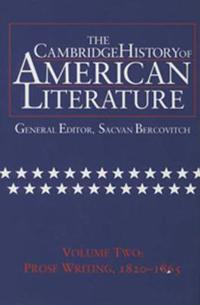 The Cambridge History of American Literature/Prose Writing 1820-1865