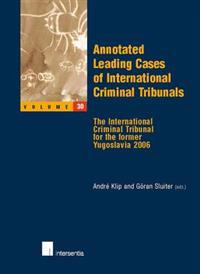 Leading Cases of International Criminal Tribunals
