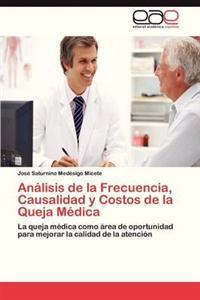 Analisis de La Frecuencia, Causalidad y Costos de La Queja Medica
