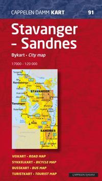 Stavanger - Sandnes; bykart = city map