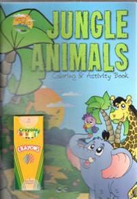 Jungle Animals Coloring & Activity Book