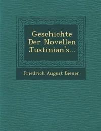 Geschichte Der Novellen Justinian's...