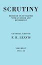 Scrutiny: A Quarterly Review vol. 4 1935-36