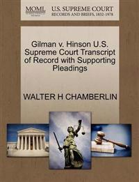 Gilman V. Hinson U.S. Supreme Court Transcript of Record with Supporting Pleadings