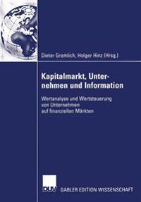 Kapitalmarkt, Unternehmen Und Information