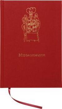Middagsdagbok Inbunden Textil Röd A5