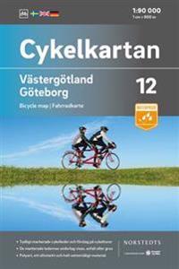 Cykelkartan Blad 12 Västergötland/Göteborg : Skala 1:90 000 -  pdf epub