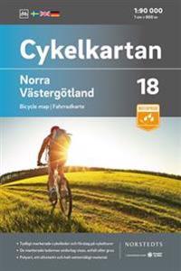 Cykelkartan Blad 18 Norra Västergötland : Skala 1:90 000