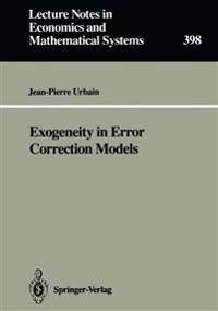 Exogeneity in Error Correcting Models