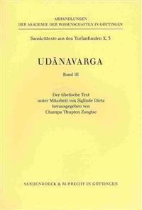 Udanavarga Teil 3. Der Tibetische Text