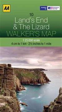 Aa Lands End & the Lizard Walker's Map