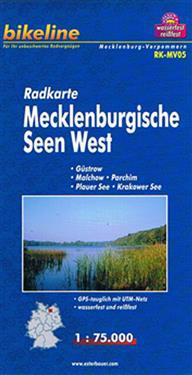 Mecklenburgische Seen West Cycle Map