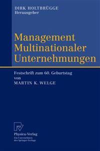 Management Multinationaler Unternehmungen