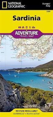 Sardinia National Geographic Maps Kartta Viikattu