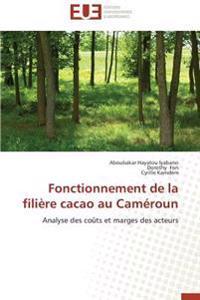 Fonctionnement de la filière cacao au Caméroun