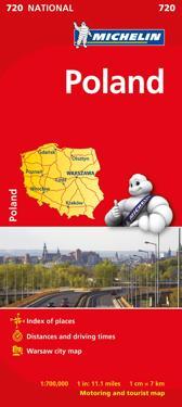Polen Michelin 720 karta : 1:700000