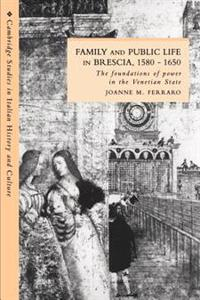 Family and Public Life in Brescia, 1580-1650