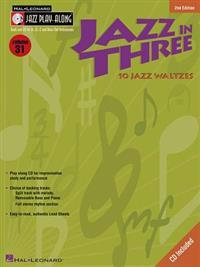 Jazz in Three: 10 Jazz Waltzes [With CD (Audio)]