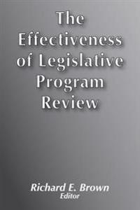 Effectiveness of Legislative Program Review