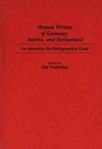 Women Writers of Germany, Austria, and Switzerland