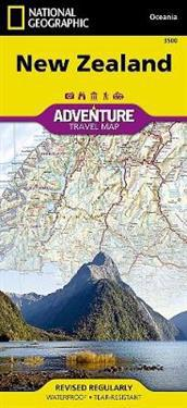 National Geographic Adventure Map New Zealand