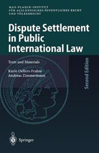 Dispute Settlement in Public International Law