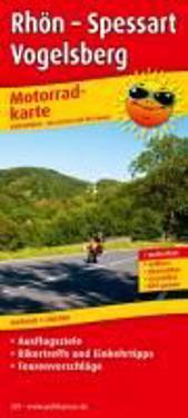 Motorradkarte Rhön - Spessart - Vogelsberg 1 : 200 000