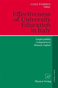 Effectiveness of University Education in Italy